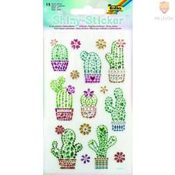 Svetleče nalepke Kaktusi 15 kosov