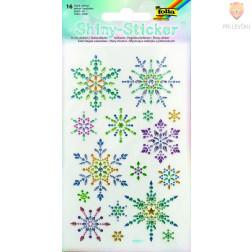 Svetleče nalepke Snežinke 16 kosov