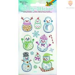 Svetleče nalepke Snežaki 13 kosov