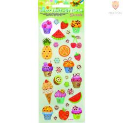 Svetleče nalepke Sweets 1 pola 10x23 cml