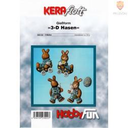 Kalup 3D Velikonočni zajčki 1 kos