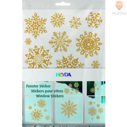 Okenske nalepke Crystals zlate barve 3xA4 pola