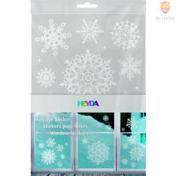 Okenske nalepke Crystals bele AB 3xA4 pola
