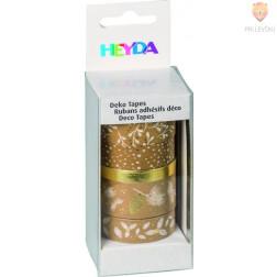 Dekorativni lepilni trakovi Nature set zlato-bel 5 kosov