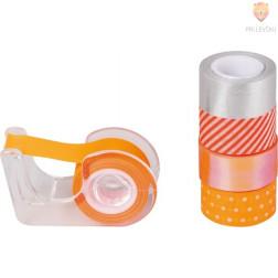 Dekorativni lepilni trakovi Neon accents oranžno rdeči 3mx12mm 5 kosov