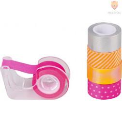 Dekorativni lepilni trakovi Neon accents oranžno pink 3mx12mm 5 kosov