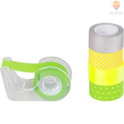 Dekorativni lepilni trakovi Neon accents zeleno rumeni 3mx12mm 5 kosov