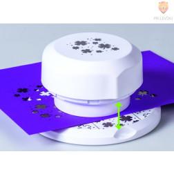 Flexi magnetni luknjač za papir Deteljice premera cca 4 cm