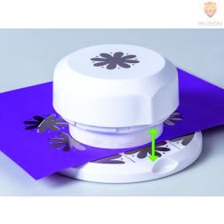 Flexi magnetni luknjač za papir Rožica s pikicami premera cca 4 cm