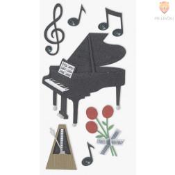 Nalepke z dekorativnimi detajli Glasba