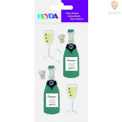 Nalepke z dekorativnimi detalji Šampanjec