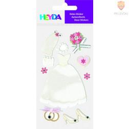 Nalepke z dekorativnimi detalji Poročna obleka