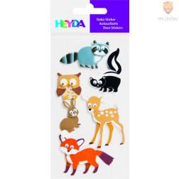 Nalepke z dekorativnimi detajli Gozdne živali