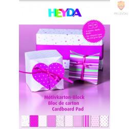 Blok kartona z motivi pink barve 20 listov