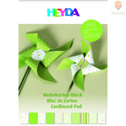 Blok kartona z motivi zelene barve 20 listov