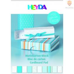 Blok kartona z motivi modre barve 20 listov