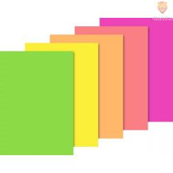 Barvni papir Neon v bloku A4 5 barv 10 listov