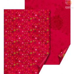 Karton z motivi Zvezdice rdeče 50x70cm