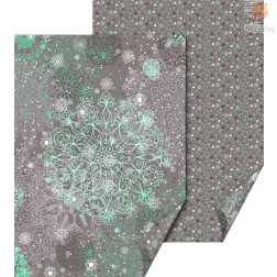 Karton z motivi Snežne rozete sive barve 50x70cm 300g/m2 1 kos
