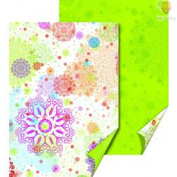 Karton z motivi Pisane rozete 50x70cm 300 g/m2 1 kos
