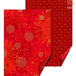 Karton z motivi Snežne rozete rdeča 50x70cm 300g/m2 1 kos
