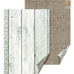 Karton z naravnimi motivi Juta in lesene deske 50x70cm 300g/m2 1 kos