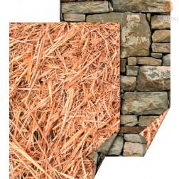 Karton z naravnimi motivi Slama in kamniti zid 50x70cm 300g/m2 1 kos