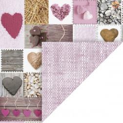 Karton motiv Naravni srčki roza 50x70cm 300 g/m2 1 kos