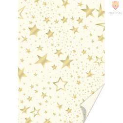 Karton motiv Zvezde krem barve 50x70cm 300 g/m2 1 kos