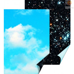 Karton z naravnimi motivi Jasno in zvezdno nebo 50x70cm 300g/m2 1 kos