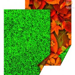 Karton z naravnimi motivi Trava in suho listje 50x70cm 300g/m2 1 kos
