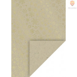 Naravni karton s potiskom vroče folije Snežinke A4 220 g/m2 1 kos