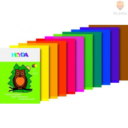 Transparentni barvni papir 23x30cm 10 listov