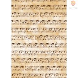 Transparentni papir z vzorcem notnega lista A4
