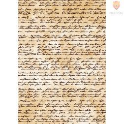 Transparentni papir z vzorcem pisave 21x31cm