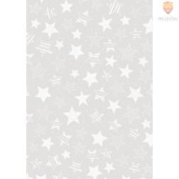 Transparentni papir z vzorcem zvezdic 50x70cm 1 pola