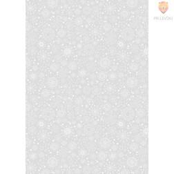Transparentni papir z vzorcem snežink 50x70cm 1 pola