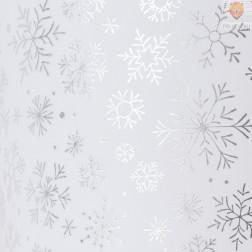Transparentni papir s svetlečim potiskom Snežinke srebrne 50x70cm 1 kos