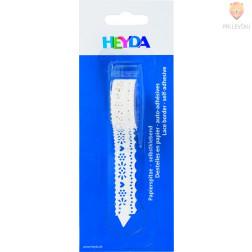 Bela papirnata samolepilna bordura Valovi 17mmx2m