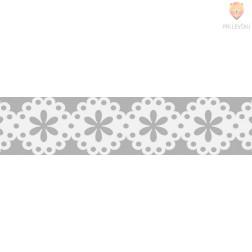 Bela papirnata samolepilna bordura Rožice 10mmx2m
