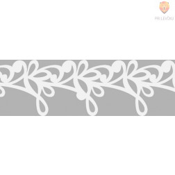 Bela papirnata samolepilna bordura Rokoko ornament 14mmx2m
