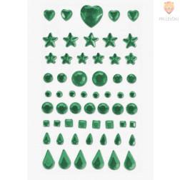 Samolepilni kamenčki različne oblike zelene barve