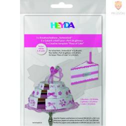 Šablona za izdelavo torte iz kartona 3 kosi