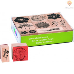 Štampiljke lesene Rože 10 kosov