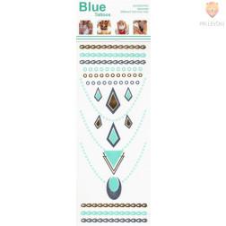 """Začasna nalepka 20x9cm """"Modri nakit"""""""