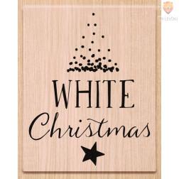Lesena štampiljka White Christmas 1 kos