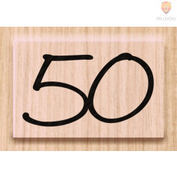 Lesena štampiljka 50 1 kos