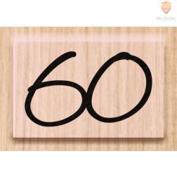 Lesena štampiljka 60 1 kos