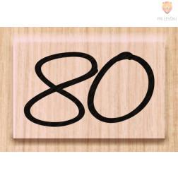 Lesena štampiljka 80 1 kos
