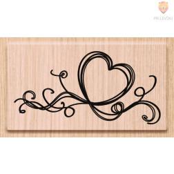 Lesena štampiljka Srce 3 1 kos